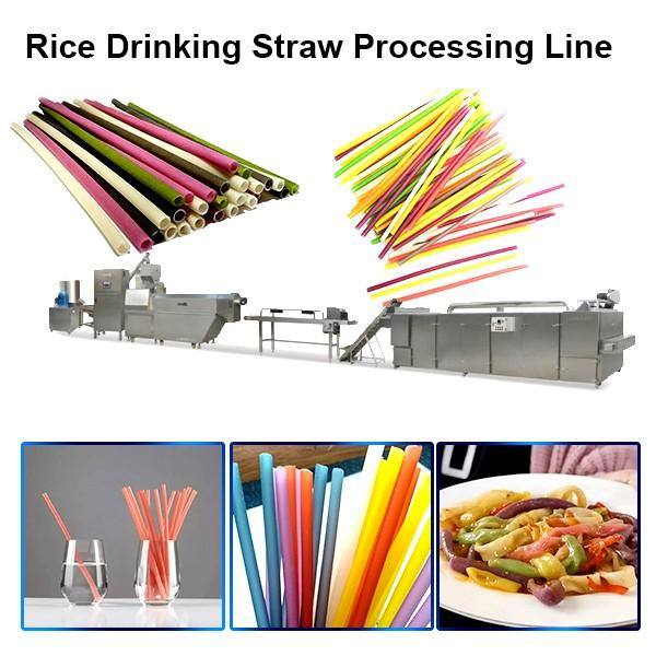 Biodegradable Edible Eco-Friendly Rice / Cassava Drinking Straws Machine