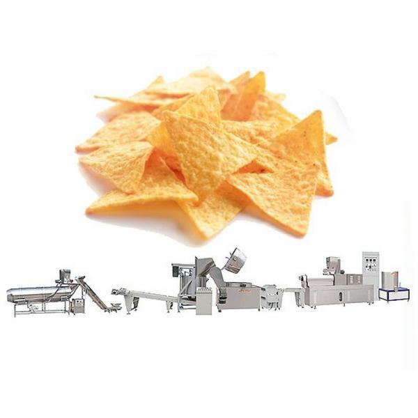 Twin-Screw Extrusion Deep Fried Nacho Corn Chips Frying Making Machinery
